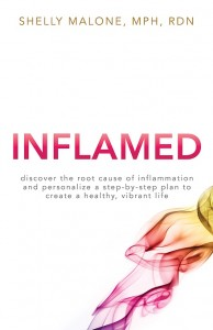 Cover of Shelly's book, INFLAMED.